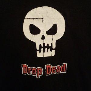 Drop dead skull tee
